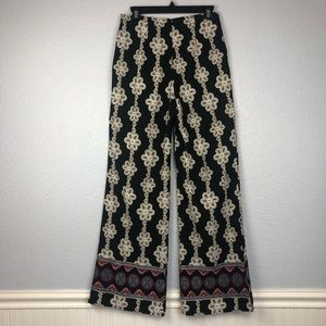 SAGE Lace pattern wide leg pant
